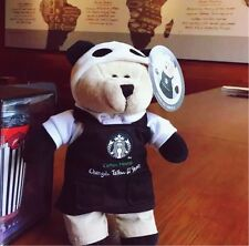 starbucks china limited city bearista chengdu black taikooli panda bear with tag