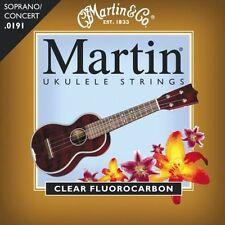 Martin M600 Clear Fluorocarbon Ukulele Strings Soprano Concert