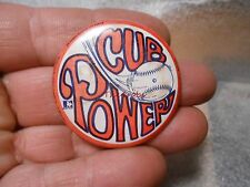 Vintage 1969 Chicago Cubs Baseball Cubs Power Pin