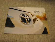 2013 Totota Full Line Brochure, RAV4, Prius, Camry, Avalon, Highlander & Others