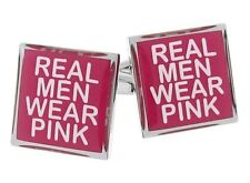 Real Men Wear Pink Cufflinks Breast Cancer Awareness