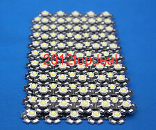 10PCS 3W High Power Cold White LED Light Emitter 13000-15000K with 20mm Heatsink