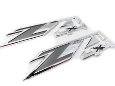 2pcs Chrome for GMC Chevy Silverado Sierra Tahoe Suburban Z71 4x4 Emblems OEM
