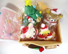 San-X Rilakkuma Gingerbread Christmas House Plush Doll set Japan 2012