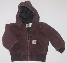 CARHARTT Coat Little Boys Toddler Size 2T Duck Work Jacket Hooded Quilted