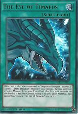 3 X YU-GI-OH ULTRA RARE CARD: THE EYE OF TIMAEUS - DRL3-EN045 - 1st EDITION