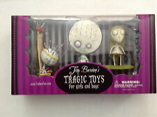 TIM BURTON'S TRAGIC TOYS 3-PACK PVC FIGURINE BOX SET BRIE BOY STARING GIRL QUEEN