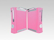 Pink Carbon Fiber Vinyl Decal Skin Sticker Cover for Xbox360 Console