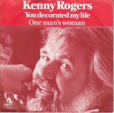 KENNY ROGERS  You Decorated My Life PICTURE SLEEVE record + juke box title strip