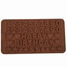 Thin Number Numeric  Birthday  Silicone mold Candy Chocolate Fondant Tray mould