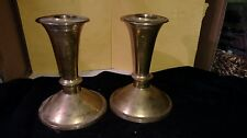 Pair of Matching Brass Taper Candle Holders Made in India