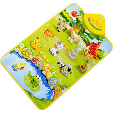 Farm Animal Musical Music Touch Mat Play Singing Carpet Mat Toy Kids Child Gift