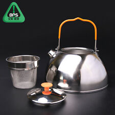 1.1L Outdoor Camp Picnic Kitchen Cookware Stainless Steel Kettle Coffee Tea Pot