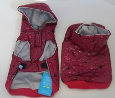 Designer Hooded Dog Coat- Pet Vest Jacket Clothes- 4 Colours & 6 sizes Available
