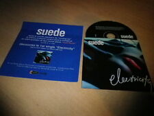 SUEDE - ELECTRICITY !!!!!! MEGA RARE RENCH PRESS/PACK + PROMO CD!!!!!!!!