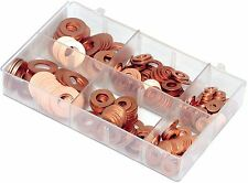 "A04220 MINI BOX FLAT COPPER WASHERS-IMPERIAL SIZES 3/16-1/2"" QTY 270"