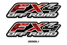 "Fx4 Off Road Truck Bed Decal Set For Ford F150 Raptor Vinyl Stickers 15""x4"" SKUL"