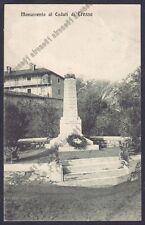 NOVARA CRESSA 05 MONUMENTO ai CADUTI Cartolina viaggiata 1922