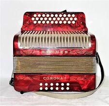 HOHNER bottone fisarmonica CORONA II bottone fisarmonica C/F con Borsa Accordion