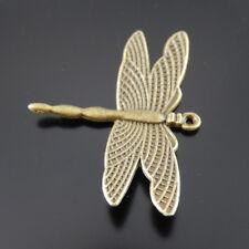30X Antike Bronze Legierung Libellen Form Charme Anhänger Schmuck Zubehör 20944