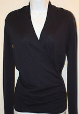 Ladies Womens NWT The Limited Blue Long Sleeve Surplice Sweater Shirt Top XS