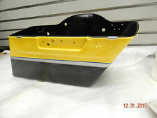 Yellow Screamin eagle CVO Saddlebag Bottom Harley Touring Ultra Road glide 2012