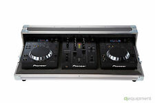Flightcase Pioneer DJ for CDJ 350 and DJM 350 - Original Logo Pioneer Grey