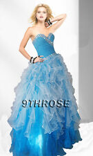 STAR IN YOUR FAIRYTALE! BLUE BEADED PROM/FORMAL/EVENING/BALL GOWN AU 8/US 6