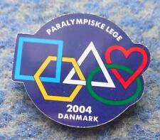 NATIONAL PARALYMPIC COMMITTEE DENMARK OLYMPIC PARALYMPIC ATHENS 2004 PIN BADGE
