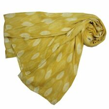 Yellow / Mustard Coloured Leaf Print Scarf