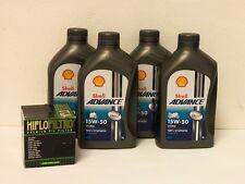 Shell Advance Ultra 4T 15W-50 / Ölfilter Ducati 800 848 851 888  alle Modelle