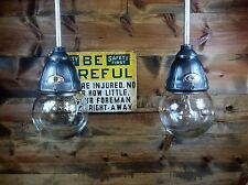 Vintage 30's Benjamin Explosion Proof Industrial Light Fixture Gas Station Barn2