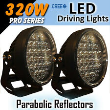 "LED Driving Lights 9"" 320w ""Parabolic Lenses"" PRO Series CREE 12/24v ""Fantastic"""