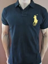 New NWT Mens Ralph Lauren Polo Shirt Big Pony Muscle Custom Fit Gold XL