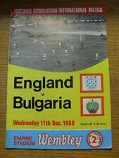 11/12/1968 England v Bulgaria [At Wembley] (Score Inside)