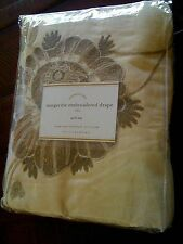 """Pottery Barn Margaritte Embroidered Drape Pole Top 50"""" x 84"""" NWT"""