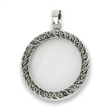 Sterling Silver and Marcasite Magnifying Glass Pendant