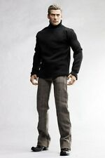 The Vogue BLACK CLOTHING SET SWEATER JEANS BELT FOR 1/6 1 : 6 FIGURE (MC0198)