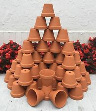 BULK LOT 50 - 3 INCH RED CLAY FLOWER POTS, GARDEN, CRAFT, WEDDING FAVOR, BABY