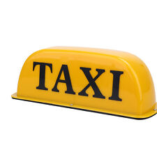 TAXI Top Board Roof Sign Indicator Cab Lamp Yellow LED Light Magnetic Base 12V