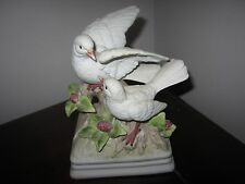 Musical Love Birds by Gorham Ceramic Hand Painted Music Box