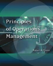 Principles of Operations Management (with CD-ROM and InfoTrac) (Swc-Management