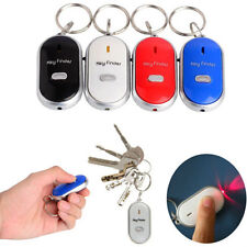 LED Light Torch Key Finder Lost Locator Whistle Remote Sound Control key chain