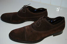 VINTAGE BROWN SUEDE LEATHER DOLCE & GABBANA MEN'S SHOES MADE IN ITALY 11.5-12