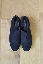 *GIANVITTO ROSSI* BLACK SUEDE SHOES (38.5)