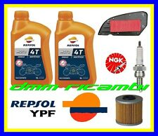 Kit Tagliando KYMCO DOWNTOWN 350 15 16 Filtro Olio Aria Candela REPSOL 2015 2016