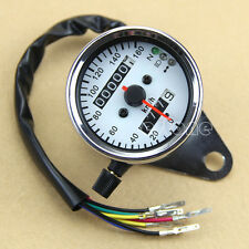 Motorcycle Universal LED Backlight Signal Light Dual Odometer Speedometer Gauge
