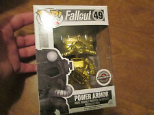 POP ! FALLOUT 49 POWER ARMOR GOLD VINYL FIGURE FUNKO EXCLUSIVE GAMESTOP RARE NEW