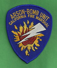 CALIFORNIA STATE FIRE MARSHAL ARSON BOMB UNIT PATCH
