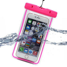 Luminous Glow Underwater Waterproof Bags Pouch Case Cover Neck Strap For Phones